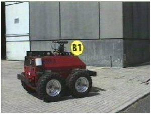 In questa foto si vede Robot Prassi in azione presso edificio F-65.