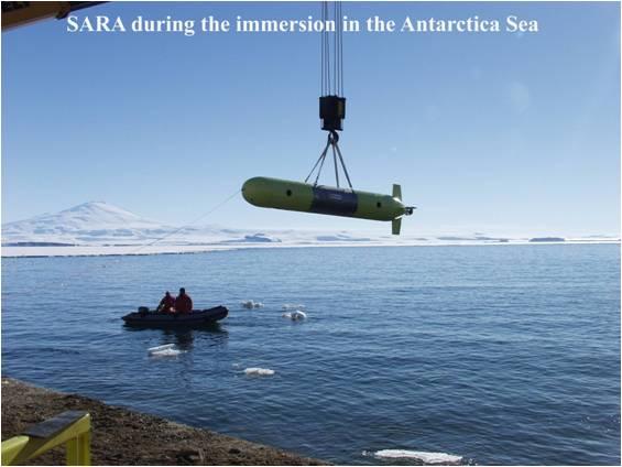 In questa foto si vede il Robot sottomarino SARA.