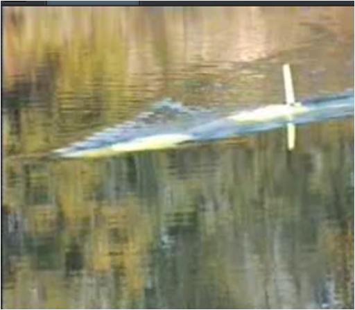In questa foto si vede il robot sottomarino SARA durante un test di immersione