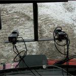 In questa foto si vedono le videocamere per la visione artificiale installate sul RAS.