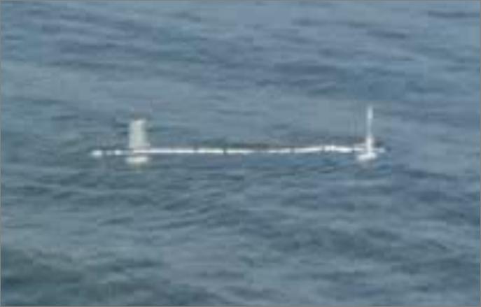 In questa foto si vede il robot sottomarino Venus nel Lago di Bracciano.